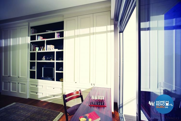 Classical, Victorian Design - Study Room - Condominium - Design by Edgeline Planners Pte Ltd