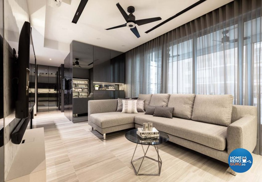 Contemporary Design - Living Room - Condominium - Design by Edgeline Planners Pte Ltd