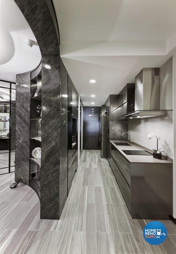 Modern Design - Kitchen - Condominium - Design by Edgeline Planners Pte Ltd