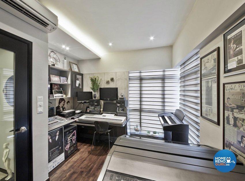 Modern Design - Study Room - Condominium - Design by Edgeline Planners Pte Ltd