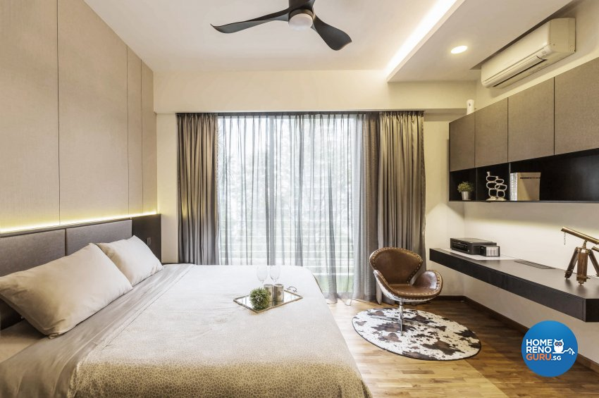 Contemporary Design - Bedroom - Landed House - Design by Edgeline Planners Pte Ltd