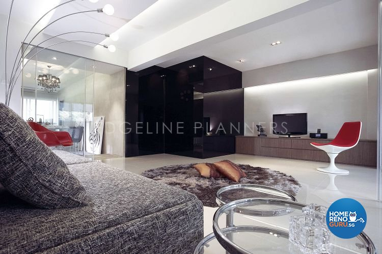 Contemporary, Industrial, Minimalist Design - Living Room - HDB 3 Room - Design by Edgeline Planners Pte Ltd