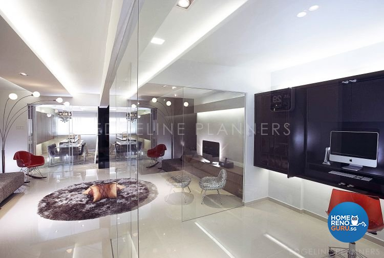 Contemporary, Minimalist Design - Living Room - HDB 3 Room - Design by Edgeline Planners Pte Ltd