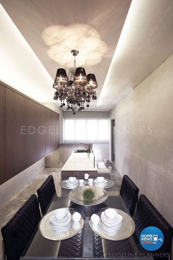 Contemporary, Industrial, Minimalist Design - Dining Room - HDB 3 Room - Design by Edgeline Planners Pte Ltd