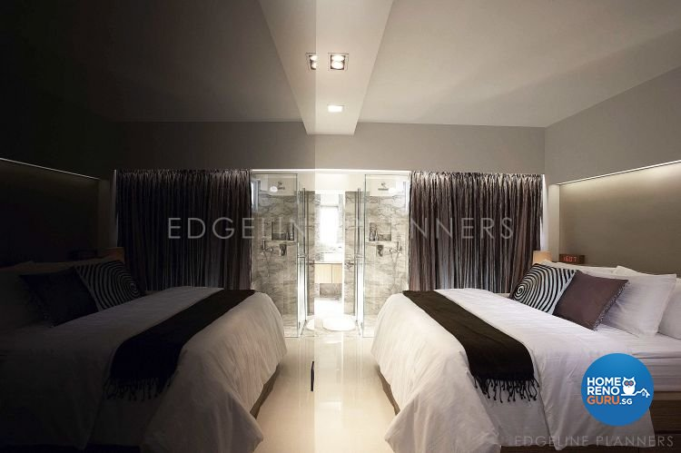 Contemporary, Industrial, Minimalist Design - Bedroom - HDB 3 Room - Design by Edgeline Planners Pte Ltd