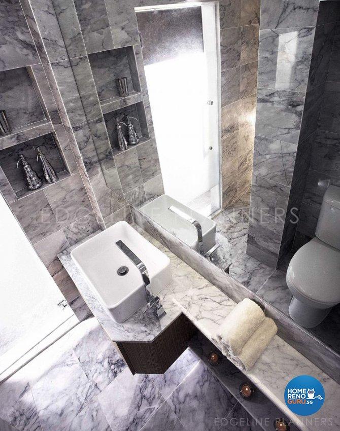 Contemporary, Industrial, Minimalist Design - Bathroom - HDB 3 Room - Design by Edgeline Planners Pte Ltd