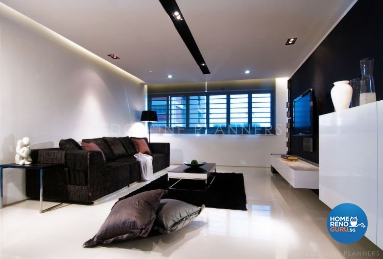 Minimalist, Modern Design - Living Room - HDB 5 Room - Design by Edgeline Planners Pte Ltd