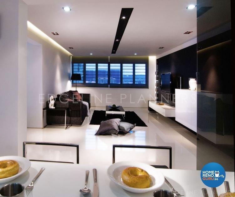 Minimalist, Modern Design - Living Room - HDB 5 Room - Design by Edgeline Planners Pte Ltd