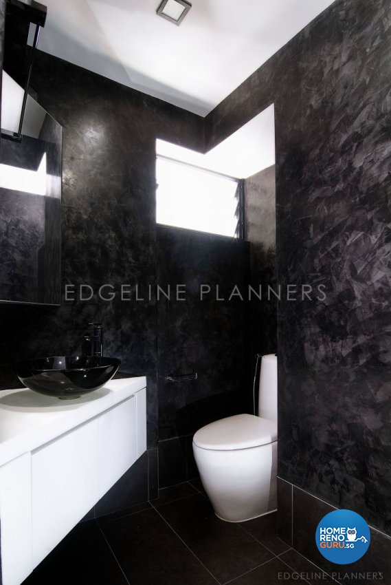 Minimalist, Modern Design - Bathroom - HDB 5 Room - Design by Edgeline Planners Pte Ltd