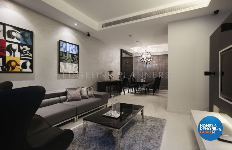 Contemporary, Minimalist, Modern Design - Living Room - Landed House - Design by Edgeline Planners Pte Ltd