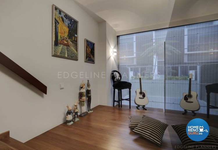 Contemporary, Minimalist, Modern Design - Entertainment Room - Landed House - Design by Edgeline Planners Pte Ltd