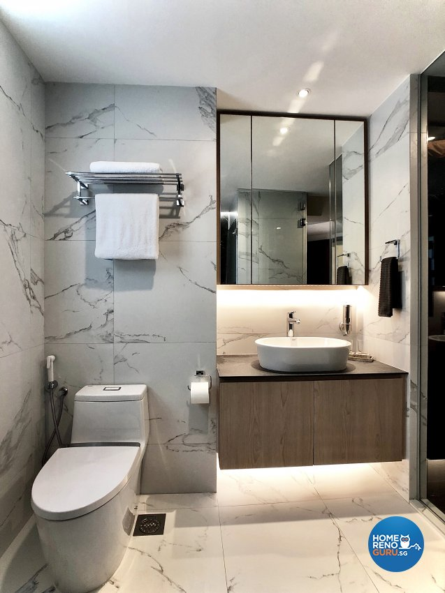 Modern Design - Bathroom - Condominium - Design by Edgeline Planners Pte Ltd