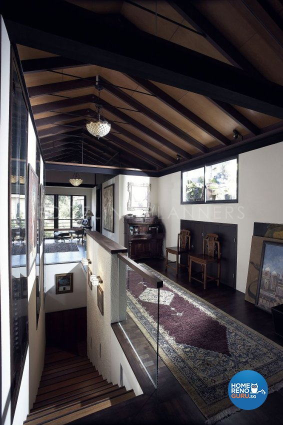Country, Rustic, Tropical Design - Entertainment Room - Landed House - Design by Edgeline Planners Pte Ltd