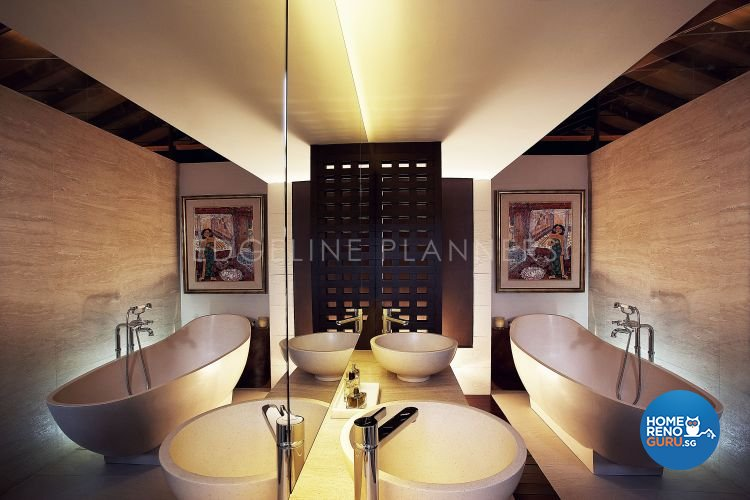 Country, Rustic, Tropical Design - Bathroom - Landed House - Design by Edgeline Planners Pte Ltd