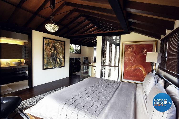 Country, Rustic, Tropical Design - Bedroom - Landed House - Design by Edgeline Planners Pte Ltd