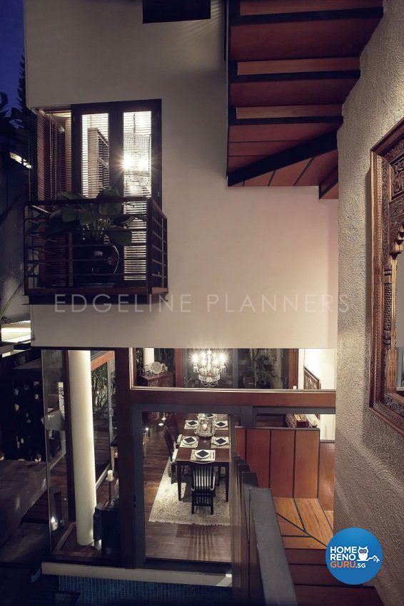 Country, Rustic, Tropical Design - Dining Room - Landed House - Design by Edgeline Planners Pte Ltd