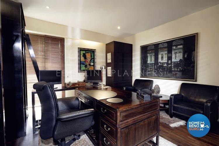 Country, Rustic, Tropical Design - Study Room - Landed House - Design by Edgeline Planners Pte Ltd