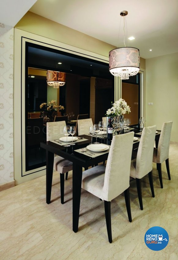 Classical, Contemporary Design - Dining Room - Condominium - Design by Edgeline Planners Pte Ltd