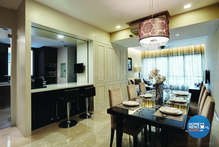 Contemporary Design - Dining Room - Condominium - Design by Edgeline Planners Pte Ltd