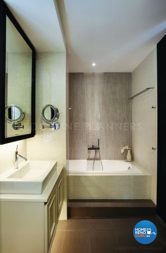 Classical, Contemporary Design - Bathroom - Condominium - Design by Edgeline Planners Pte Ltd