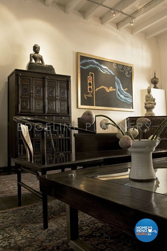Rustic, Vintage Design - Living Room - Landed House - Design by Edgeline Planners Pte Ltd