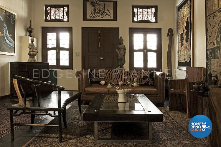 Rustic, Vintage Design - Living Room - Landed House - Design by Edgeline Planners Pte Ltd