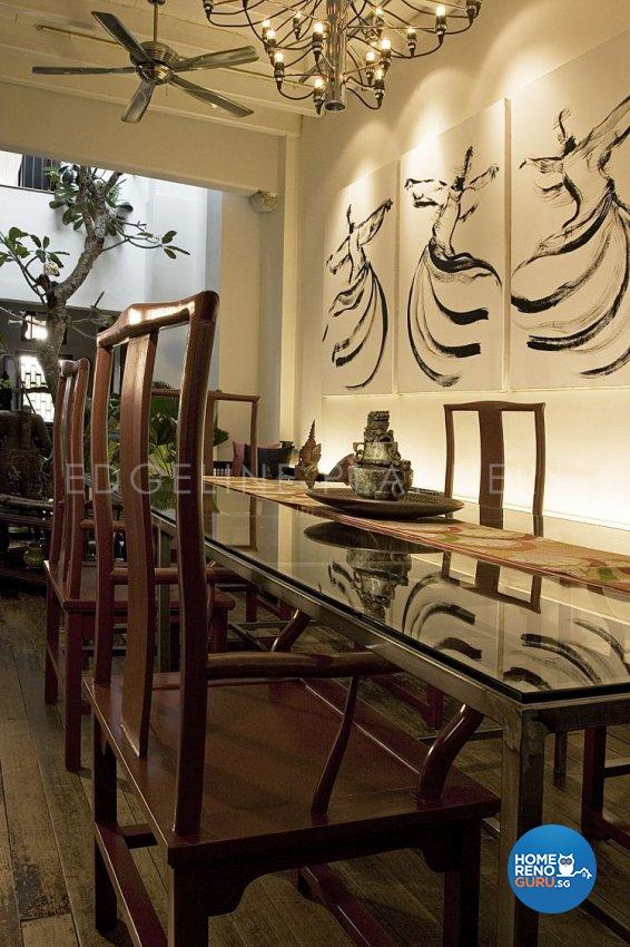 Rustic, Vintage Design - Dining Room - Landed House - Design by Edgeline Planners Pte Ltd