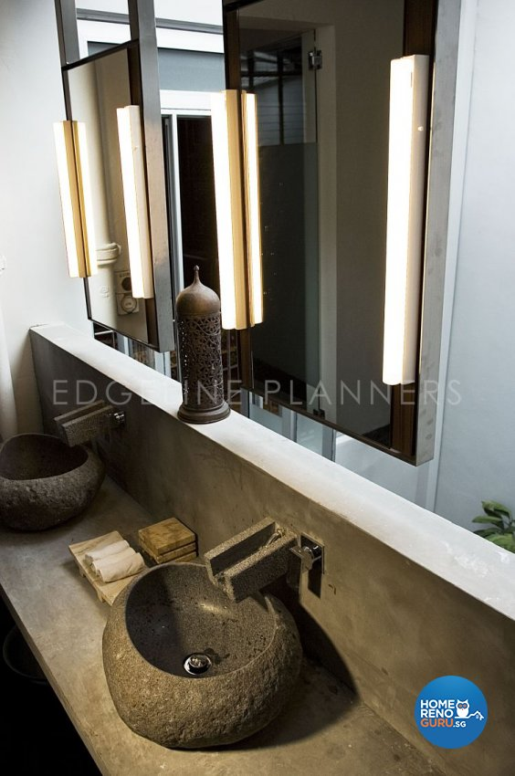 Contemporary, Tropical Design - Bathroom - Landed House - Design by Edgeline Planners Pte Ltd