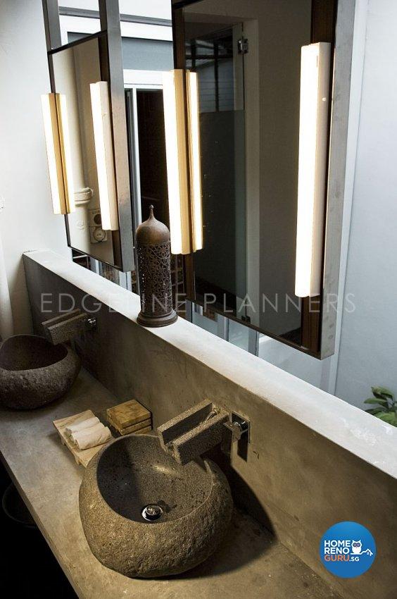 Rustic, Vintage Design - Bathroom - Landed House - Design by Edgeline Planners Pte Ltd