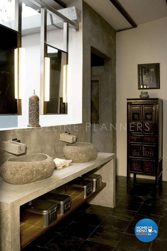 Rustic, Vintage Design - Bathroom - Landed House - Design by Edgeline Planners Pte Ltd