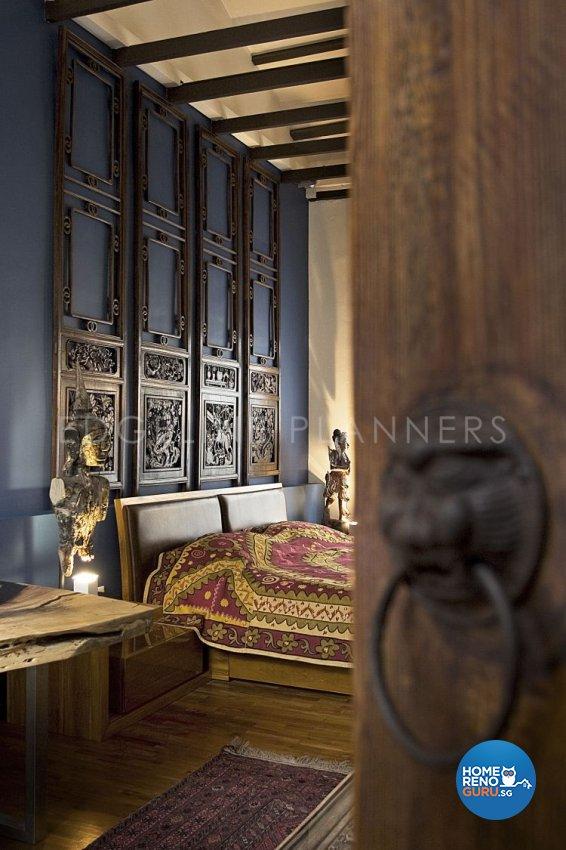 Rustic, Vintage Design - Bedroom - Landed House - Design by Edgeline Planners Pte Ltd