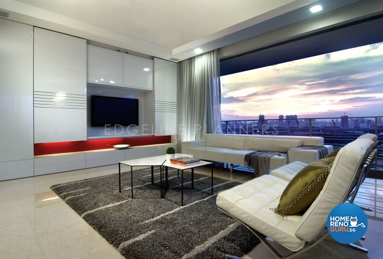 Contemporary, Modern Design - Living Room - Condominium - Design by Edgeline Planners Pte Ltd