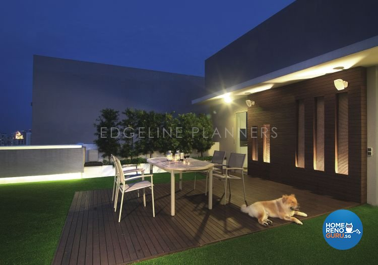 Contemporary, Modern Design - Balcony - Condominium - Design by Edgeline Planners Pte Ltd