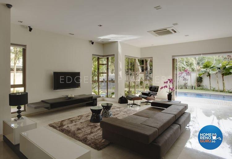 Contemporary, Minimalist, Modern Design - Living Room - Landed House - Design by Edgeline Planners Pte Ltd