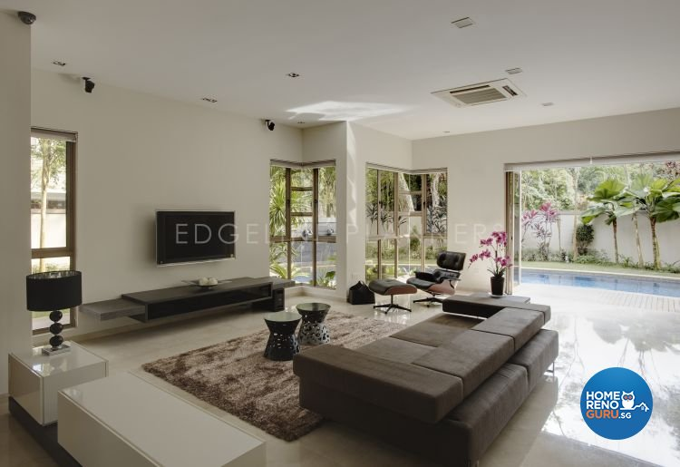 Contemporary, Modern Design - Living Room - Landed House - Design by Edgeline Planners Pte Ltd