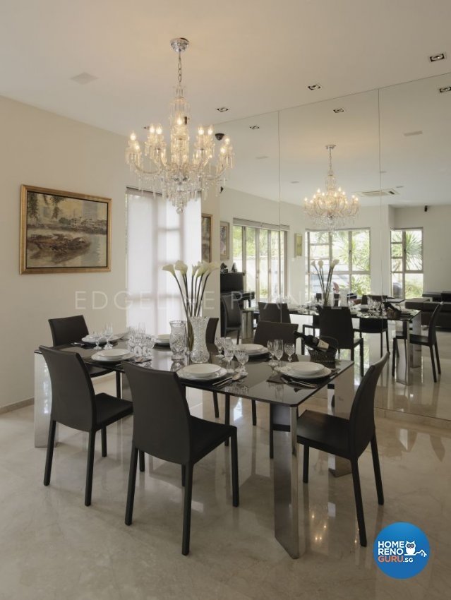 Contemporary, Modern Design - Dining Room - Landed House - Design by Edgeline Planners Pte Ltd