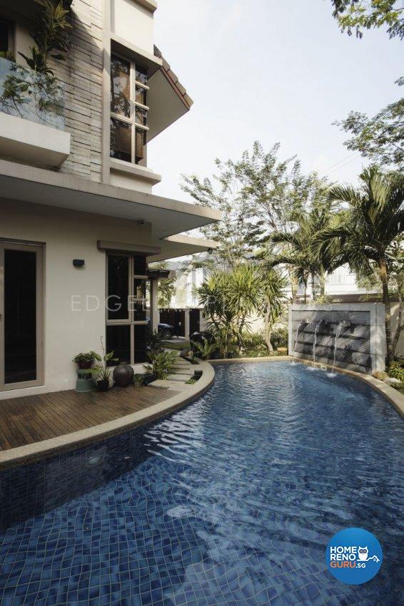 Contemporary, Minimalist, Modern Design - Garden - Landed House - Design by Edgeline Planners Pte Ltd