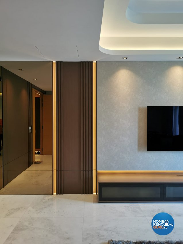 Others Design - Living Room - HDB 3 Room - Design by Edgeline Planners Pte Ltd