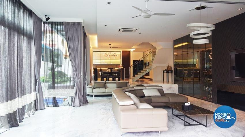 Modern Design - Living Room - Landed House - Design by E+e Design & Build