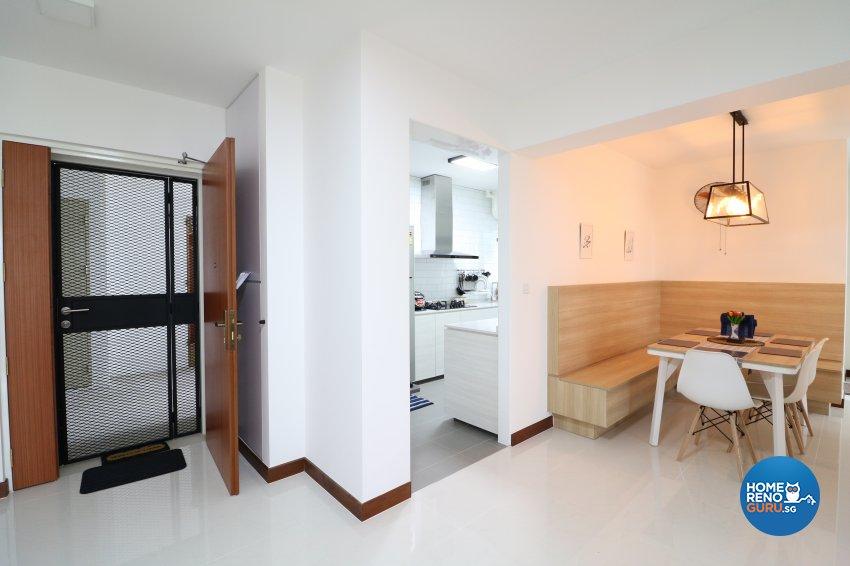 Industrial, Scandinavian Design - Dining Room - HDB 5 Room - Design by E+e Design & Build