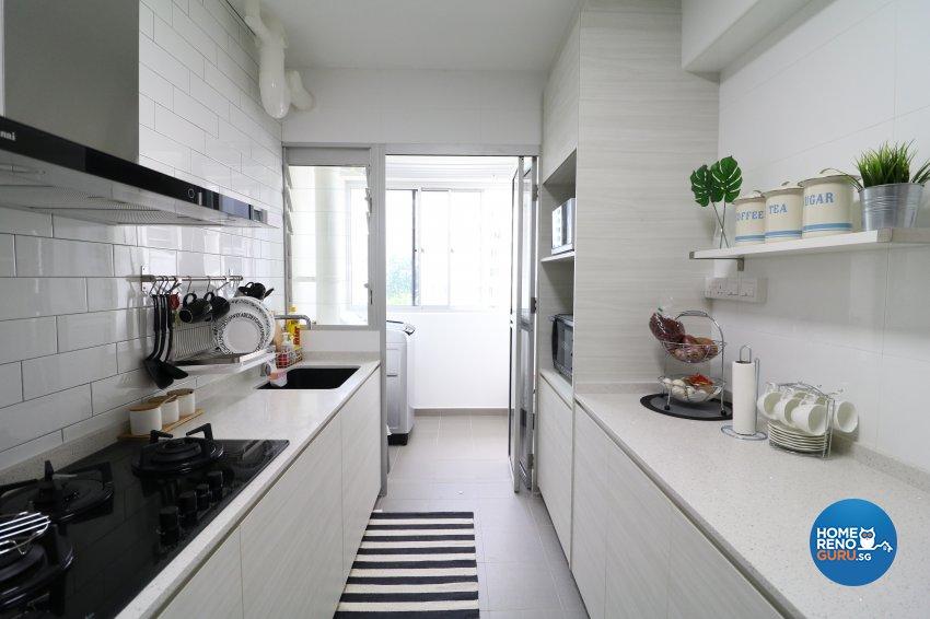 Industrial, Scandinavian Design - Kitchen - HDB 5 Room - Design by E+e Design & Build