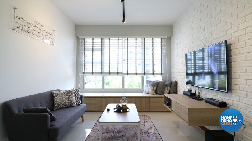 Industrial, Scandinavian Design - Living Room - HDB 5 Room - Design by E+e Design & Build