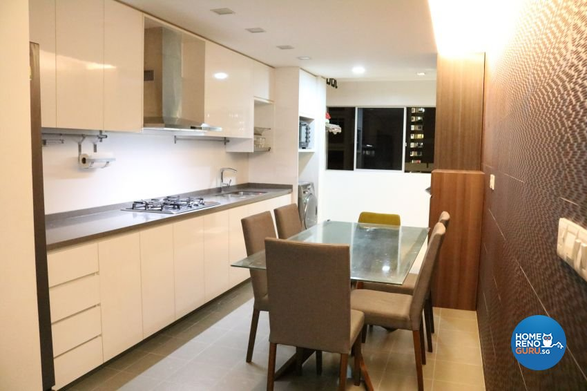 Contemporary Design - Kitchen - HDB 4 Room - Design by E+e Design & Build
