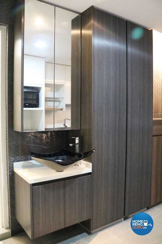 Contemporary Design - Bathroom - HDB 4 Room - Design by E+e Design & Build