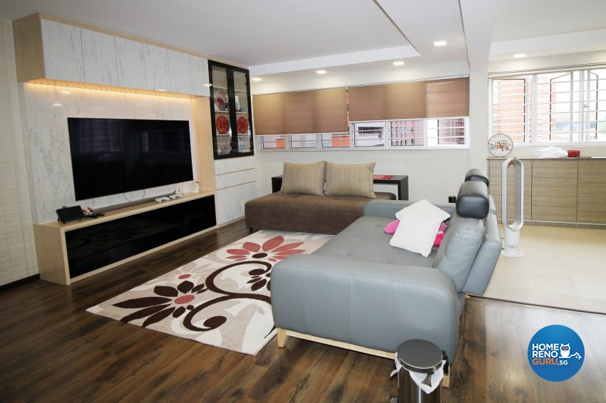 Contemporary Design - Living Room - HDB 4 Room - Design by EightySeven Studio Pte Ltd
