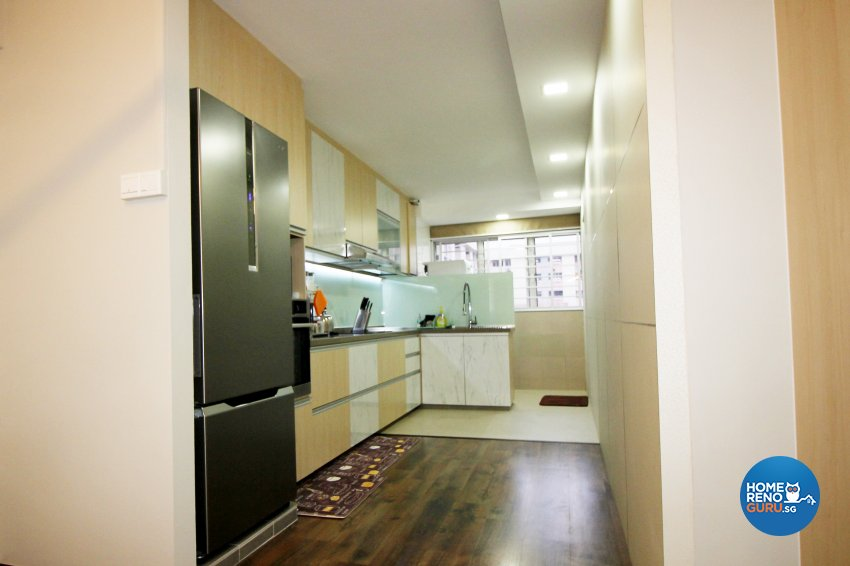 Contemporary Design - Kitchen - HDB 4 Room - Design by EightySeven Studio Pte Ltd