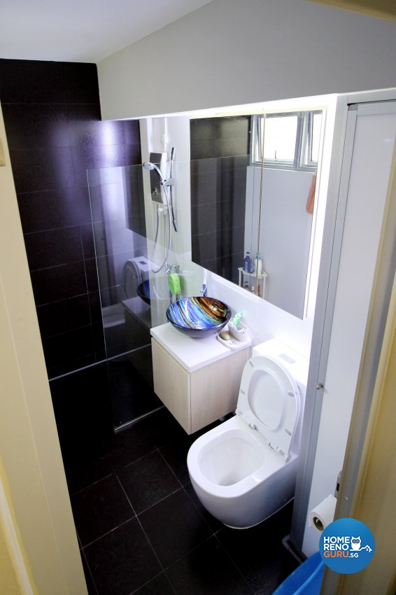 Contemporary Design - Bathroom - HDB 4 Room - Design by EightySeven Studio Pte Ltd