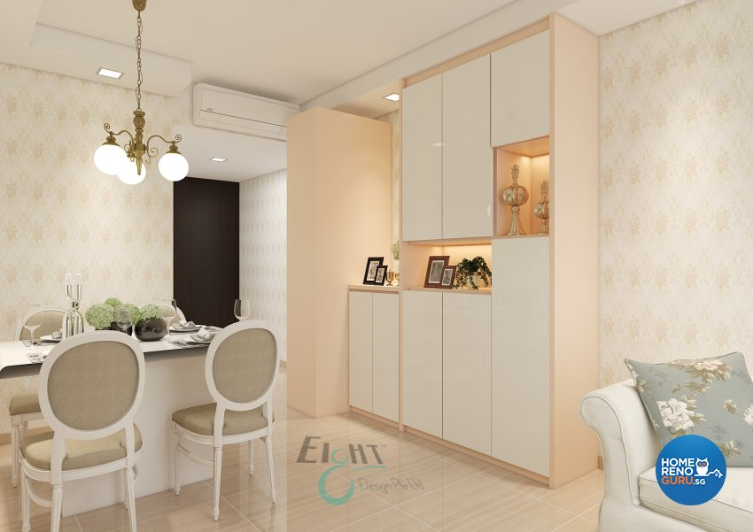 Victorian Design - Dining Room - Condominium - Design by Eight Design Pte Ltd