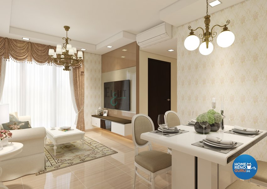 Victorian Design - Living Room - Condominium - Design by Eight Design Pte Ltd