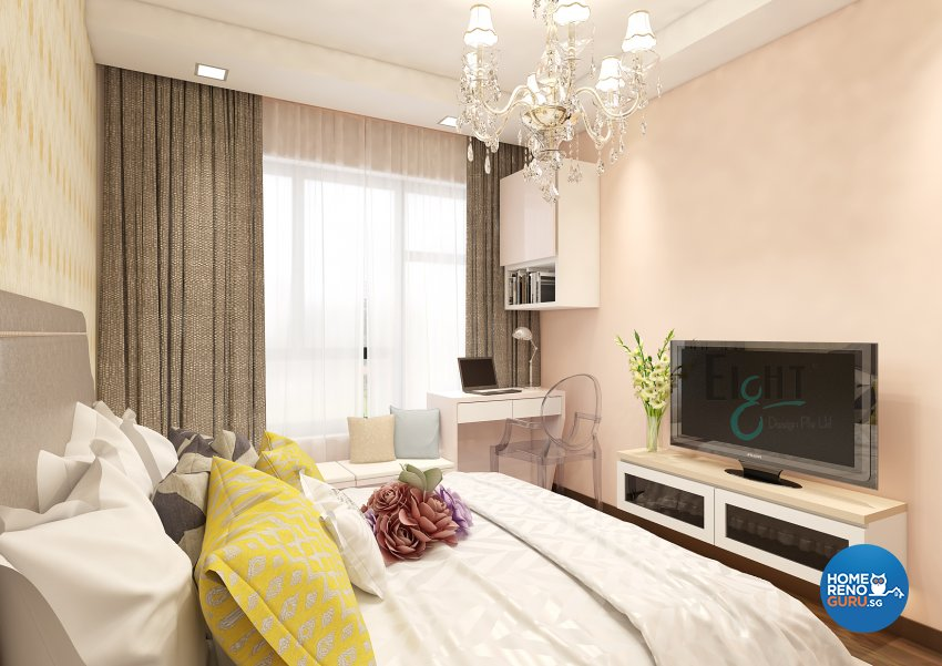 Victorian Design - Bedroom - Condominium - Design by Eight Design Pte Ltd